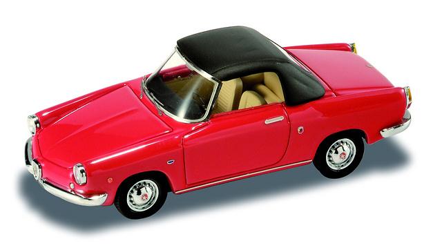 Fiat Abarth 850 Cabriolet cerrado Rojo (1959)