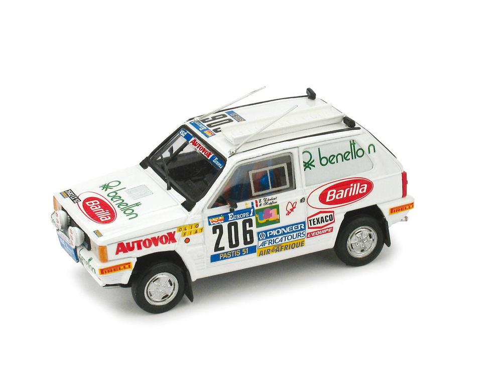 Fiat Panda 4x4 Paris-Dakar nº 206 H. Mariane - D. Evelyne (1984) Brumm R458 1/43