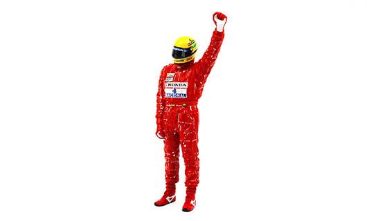 Figura Ayrton Senna McLaren (1988) True Scale Model TSM13AC09 1/18