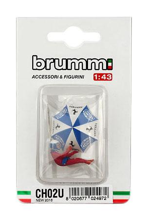 Figura Didier Pironi con sombrilla (1982) Brumm CH02U 1/43