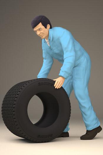 Figura Mecánico con rueda Figurenmanufaktur 180114 1:18