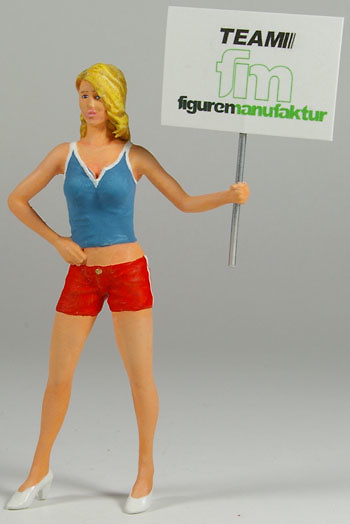 Figura Señorita con cartel de posición Figurenmanufaktur 180049 1:18