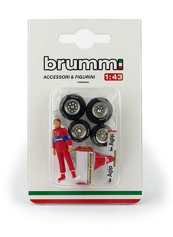 Figura de Didier Pironi con accesorios