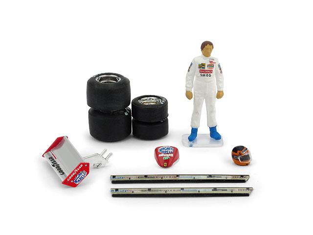 Figura de Gilles Villeneuve con accesorios