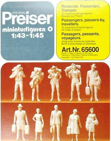 Figuras Kit para pintar 1 Preiser 65600 1/43