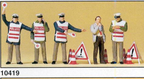 Figuras Policia Control Alcoholemia Preiser 10419 1/87