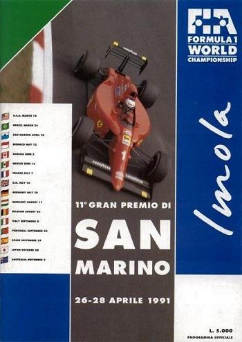 Poster GP. F1 de San Marino de 1991