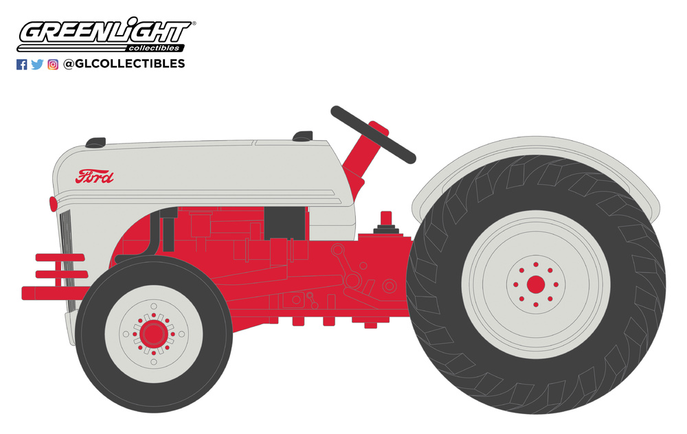 Ford 8N (1947) Greenlight 48010A 1/64