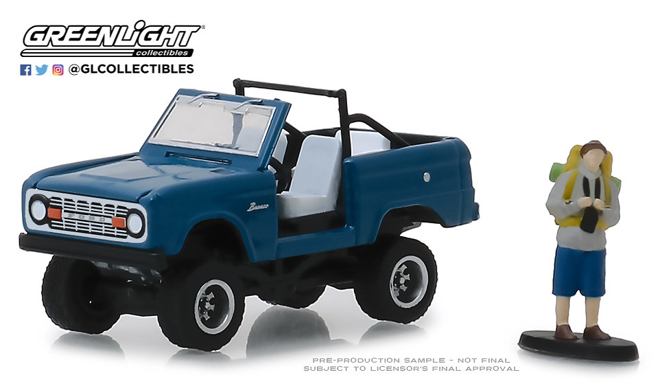 97060-B 1:64 The Hobby Shop Series 6 - 1967 Ford Bronco (Doors Removed) with Backpacker