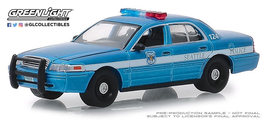 Ford Crown Victoria Interceptor - Policía de Seattle (Washington) (2010) Greenlight 42880D 1/64