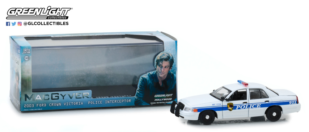 Ford Crown Victoria - Police Interceptor California Police MacGyver (2003) Greenlight 86520 1/43