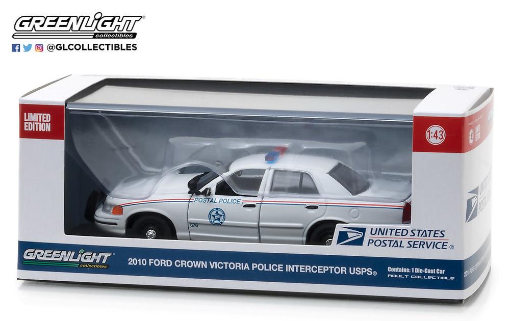 Ford Crown Victoria Policia Postal de EEUU (USPS) (2010) Greenlight 86523 1/43