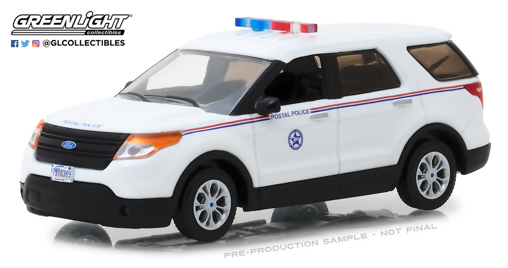 Ford Explorer Policia Postal de EEUU (USPS) (2014) Greenlight 1/43