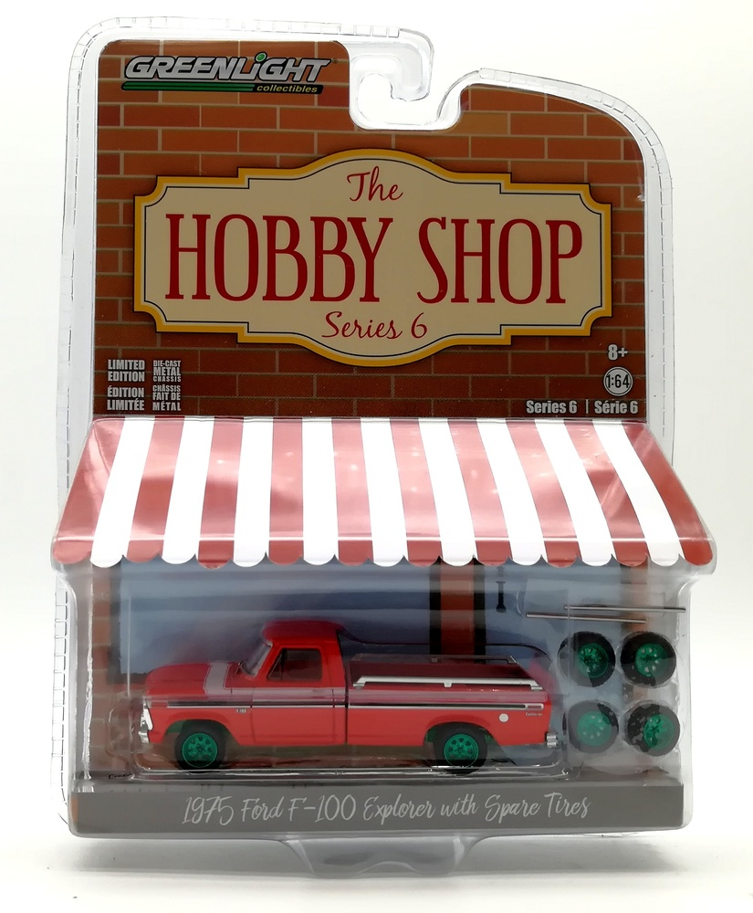 97060-E 1:64 The Hobby Shop Series 6 - 1975 Ford F-100 Explorer with Spare Tires