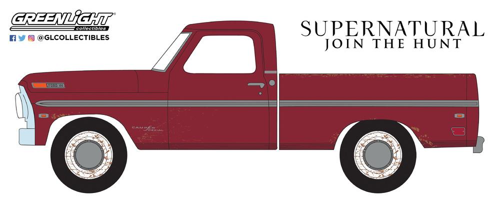 Ford F-100 - Supernatural (1969) Greenlight 44800F 1/64