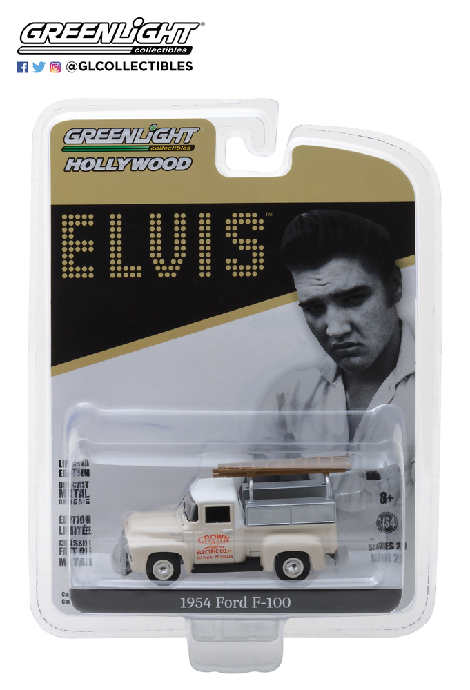 Ford F-100 Truck Crown Electric Co Elvis Presley (1954) Greenlight 44800B 1/64