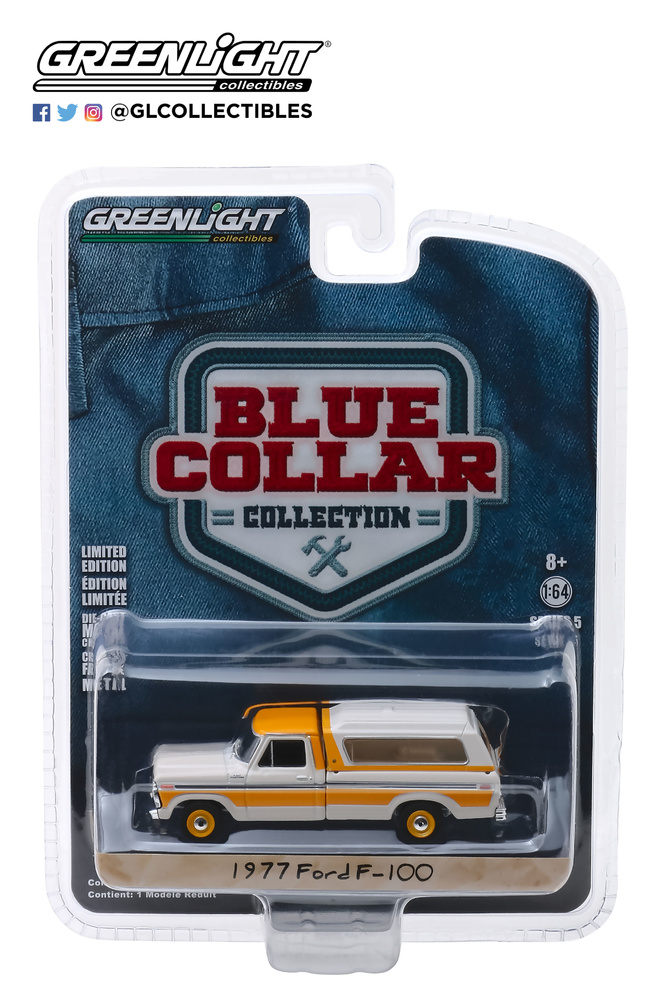 35120-D 1:64 Blue Collar Collection Series 5 - 1977 Ford F-100 with Camper Shell