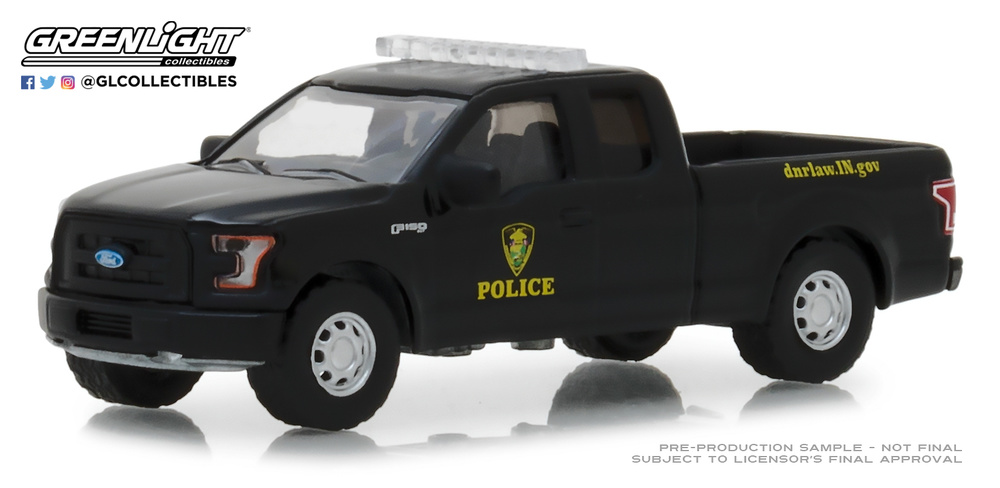 Ford F-150 Indiana Departament of Natural Resources Conservation Officer (2017) 42860F Greenlight 1/64