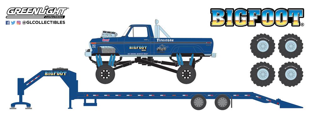 Ford F250 Bigfoot nº 1 Monster Truck con trailer y juego de neumáticos de 66