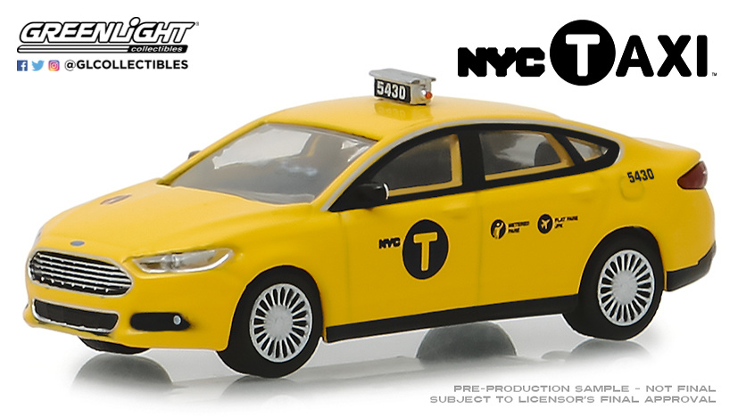 Ford Fusion Taxi NYC (2013) Greenlight 30011 1/64