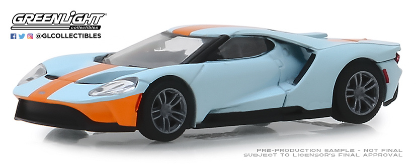 Ford GT Heritage Edition - Gulf Oil (2019) Greenlight 27980F 1/64