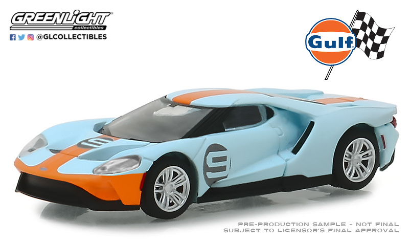 Ford GT Heritage nº 9 Gulf (2019) Greenlight 29909 1/64