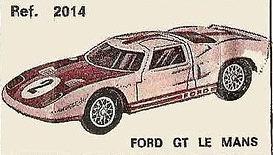 Ford GT Le Mans Nacoral 2014 1/43