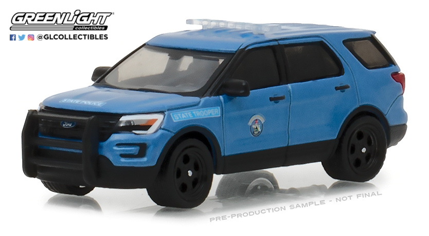 42840-F - 1-64 Hot Pursuit 27 - 2016 Ford Police Int Utility - Maine State Police