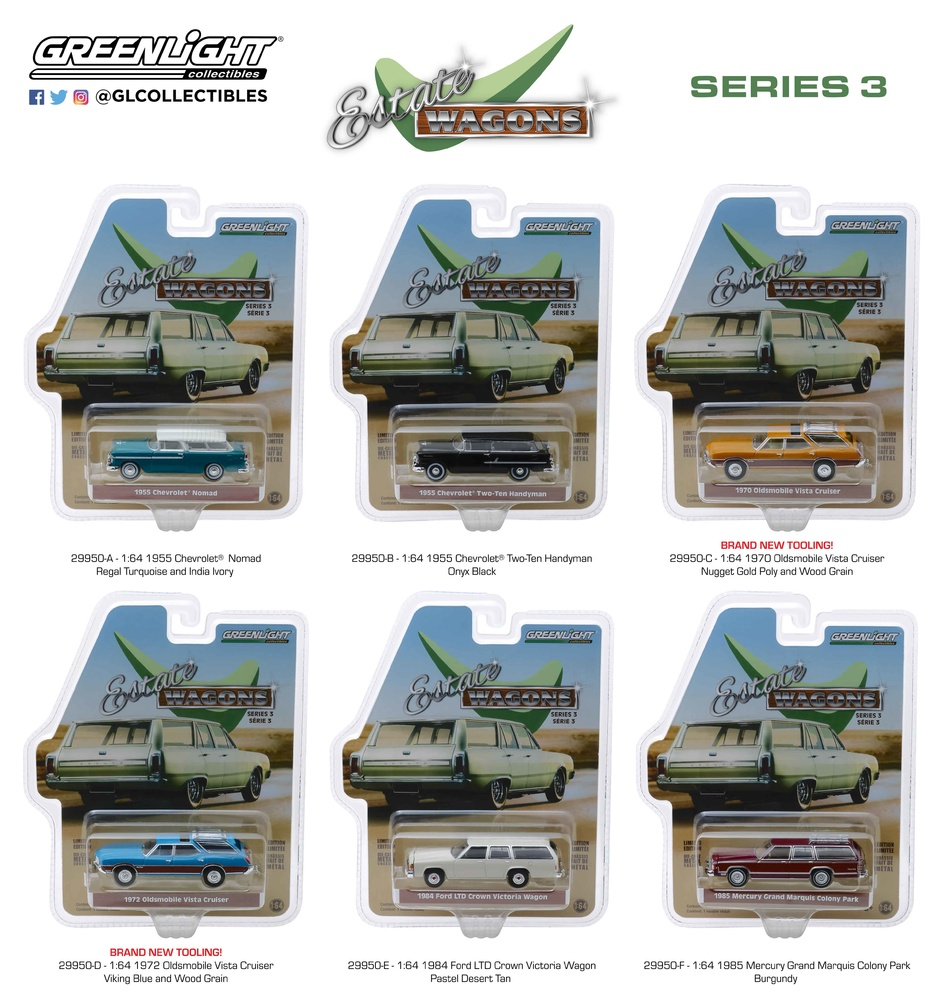 Estate Wagons Series 3 Greenlight 29950 1/64