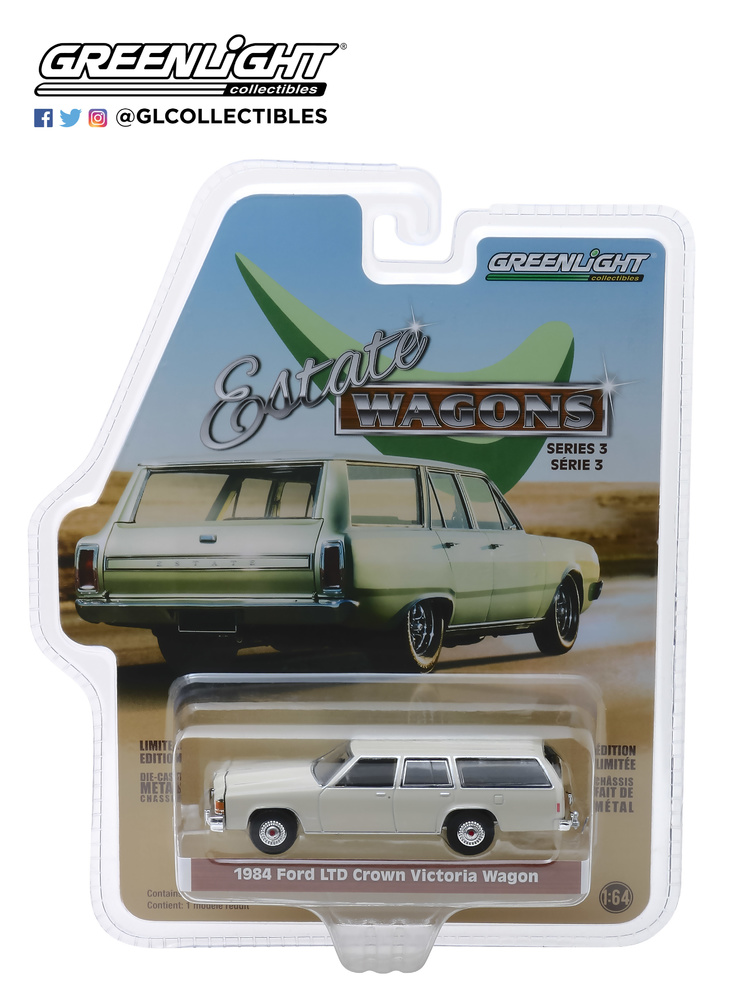 29950-E 1:64 Estate Wagons Series 3 - 1984 Ford LTD Crown Victoria Wagon - Pastel Desert Tan Solid Pack