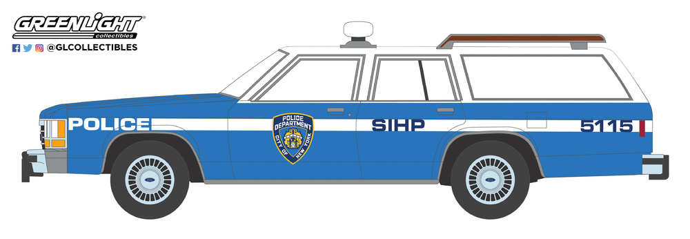 42870-C 1:64 Hot Pursuit Series 30 - 1988 Ford LTD Crown Victoria Wagon - New York City Police Dept (NYPD)