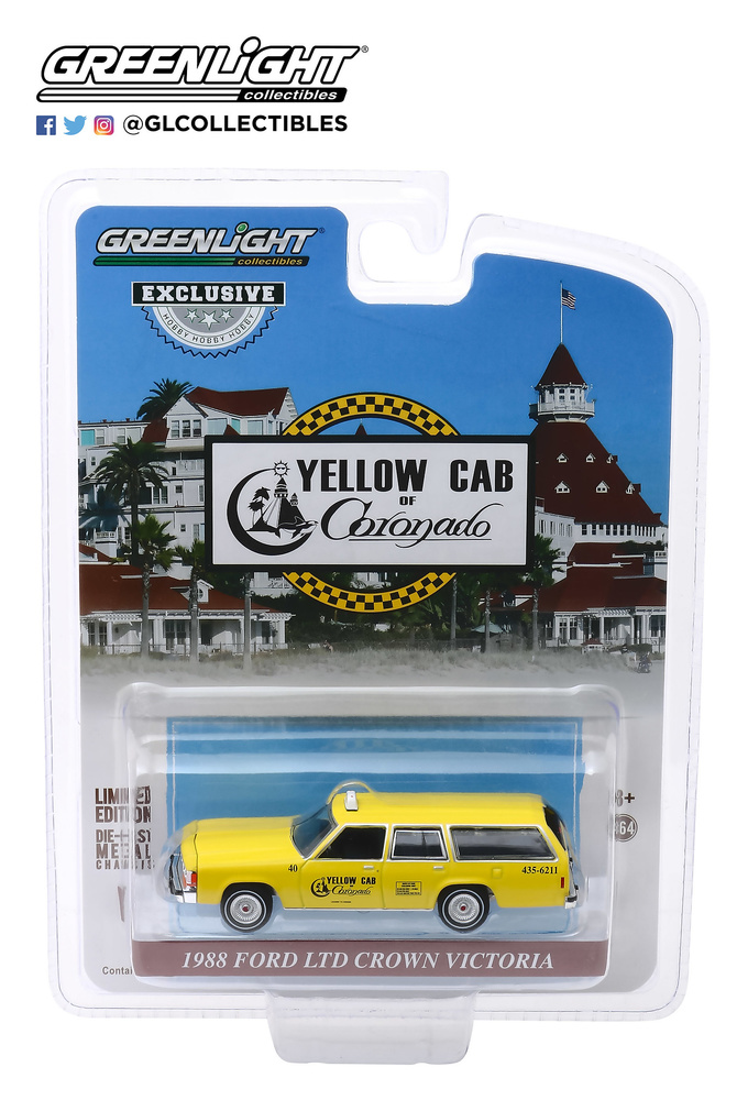 Ford LTD Crown Victoria Wagon Taxi de Coronado California (1988) Greenlight 30122 1/64