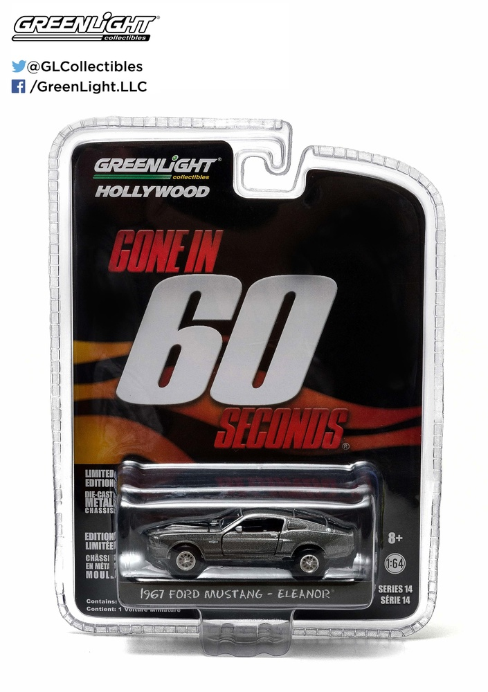 "Ford Mustang ""Eleanor"" Gone in Sixty Seconds (1967) Greenlight 44742 1/64"