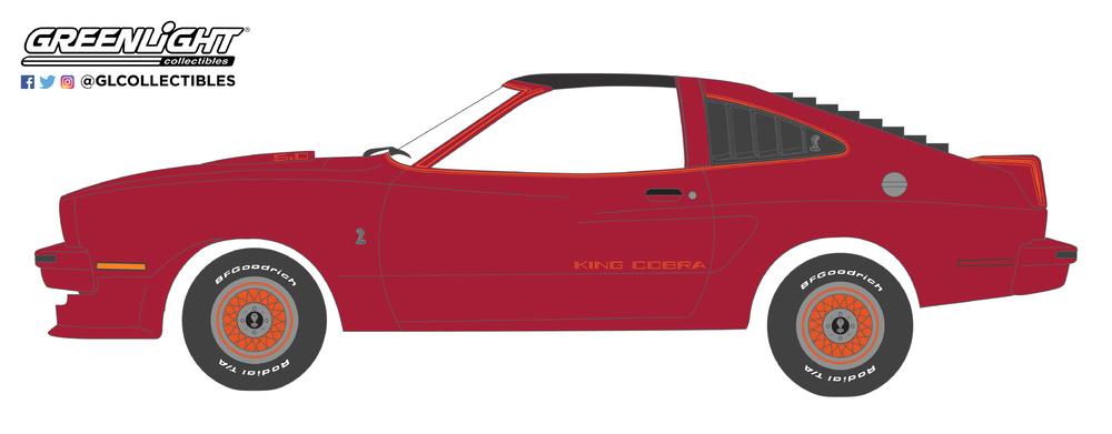 Ford Mustang 2 King Cobra (1978) Greenlight 37140E 1/64