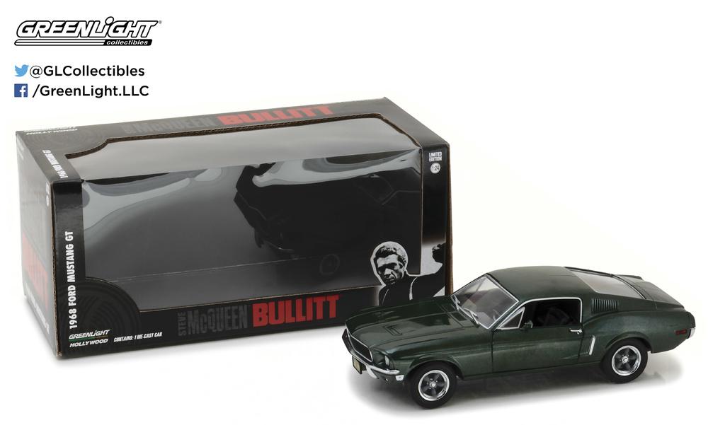 Ford Mustang GT 1967 verde Bullitt steve mcqueen Green Machine 2 maqueta de coche 1:24
