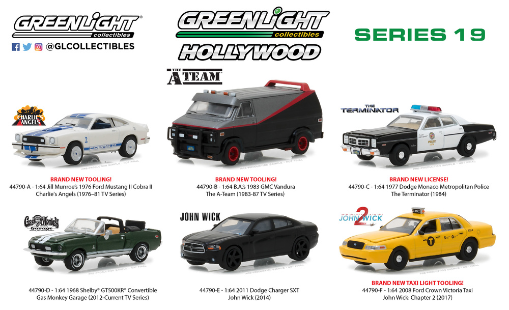 Hollywood Series 19 Greenlight 1/64
