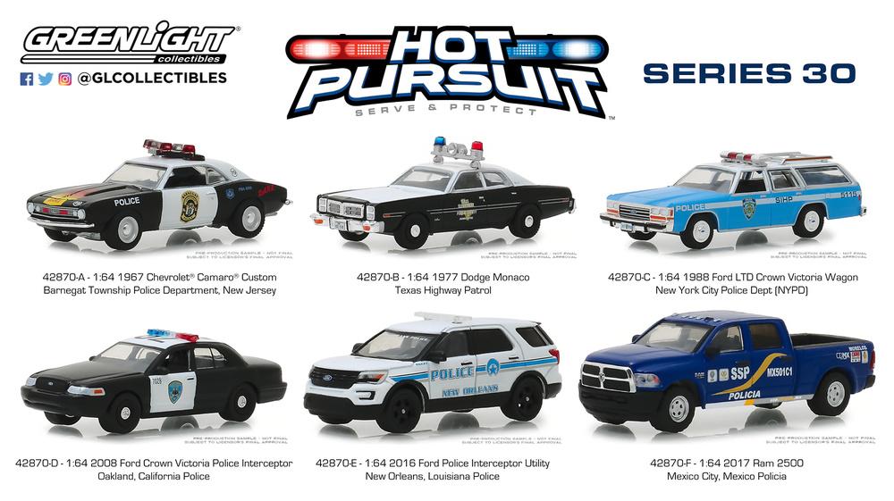 Hot Pursuit series 30 Greenlight 1/64