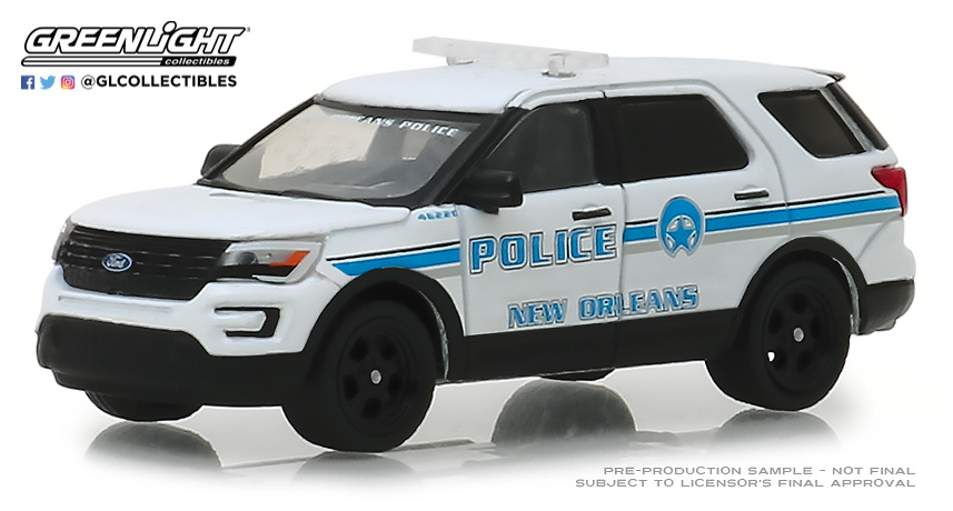 42870-E 1:64 Hot Pursuit Series 30 - 2016 Ford Police Interceptor Utility - New Orleans, Louisiana Police