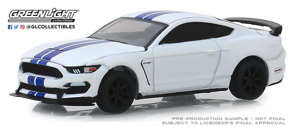Ford Shelby GT350R Chais 001 Barret Jackson Lote nº 3008 (2015) Greenlight 37180F 1/64