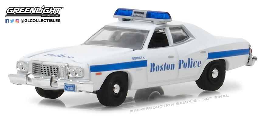 Ford Torino - Policia Boston Masachussets (1976) Greenlight 1/64