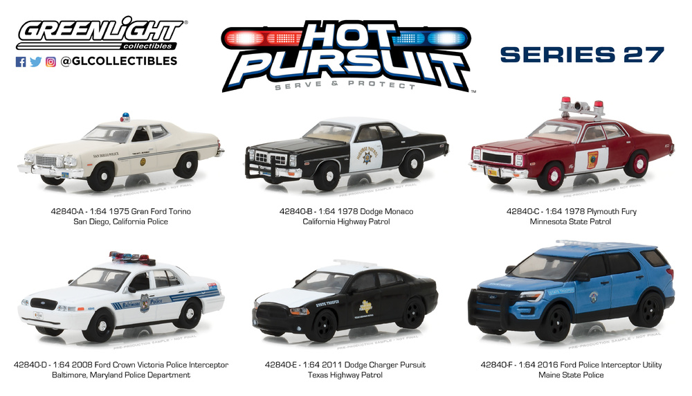 Ford Torino - San Diego California Police (1975) Greenlight 1/64