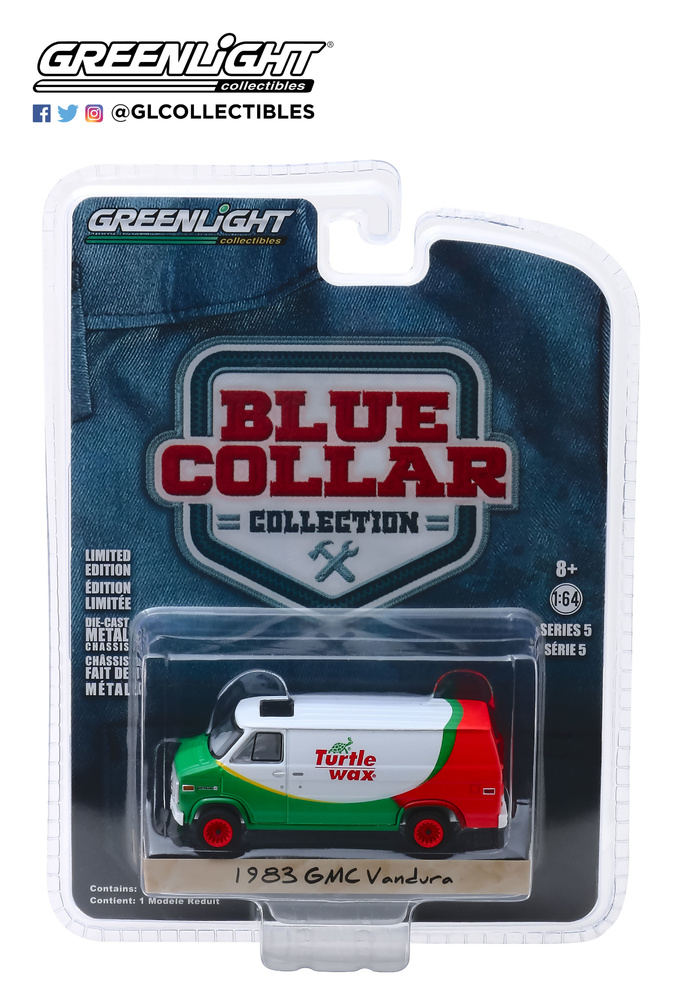 35120-E 1:64 Blue Collar Collection Series 5 - 1983 GMC Vandura - Turtle Wax