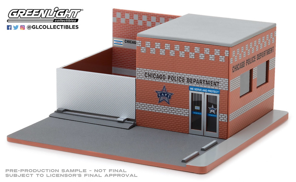 57041 1:64 Mechanic's Corner Series 4 - Hot Pursuit Central Command - City of Chicago Police Department (CPD)