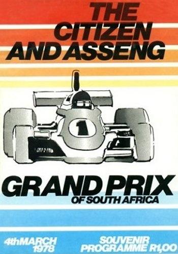 Poster del GP. F1 de Sudáfrica de 1978