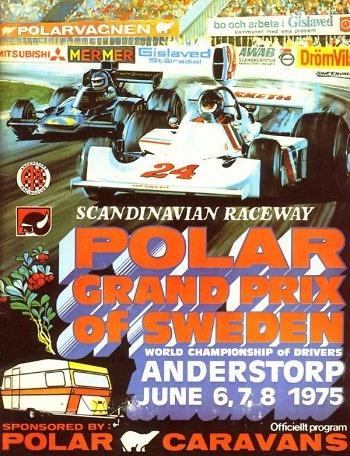 Poster GP. F1 de Suecia de 1975