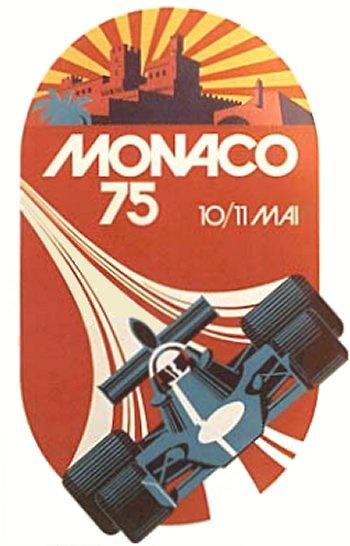 Poster del GP. de Mónaco de 1975
