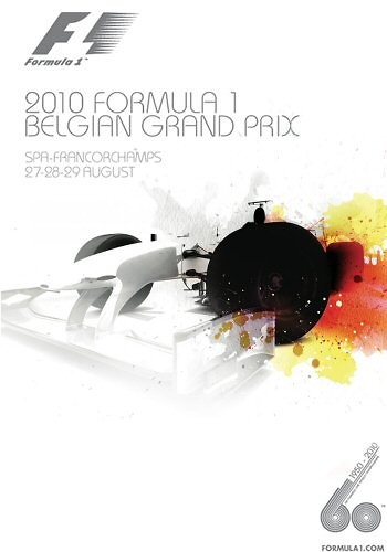Poster del GP. F1 de Bélgica de 2010
