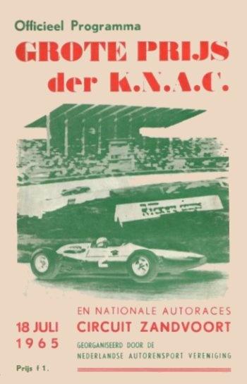 Poster del GP. F1 de Holanda de 1965