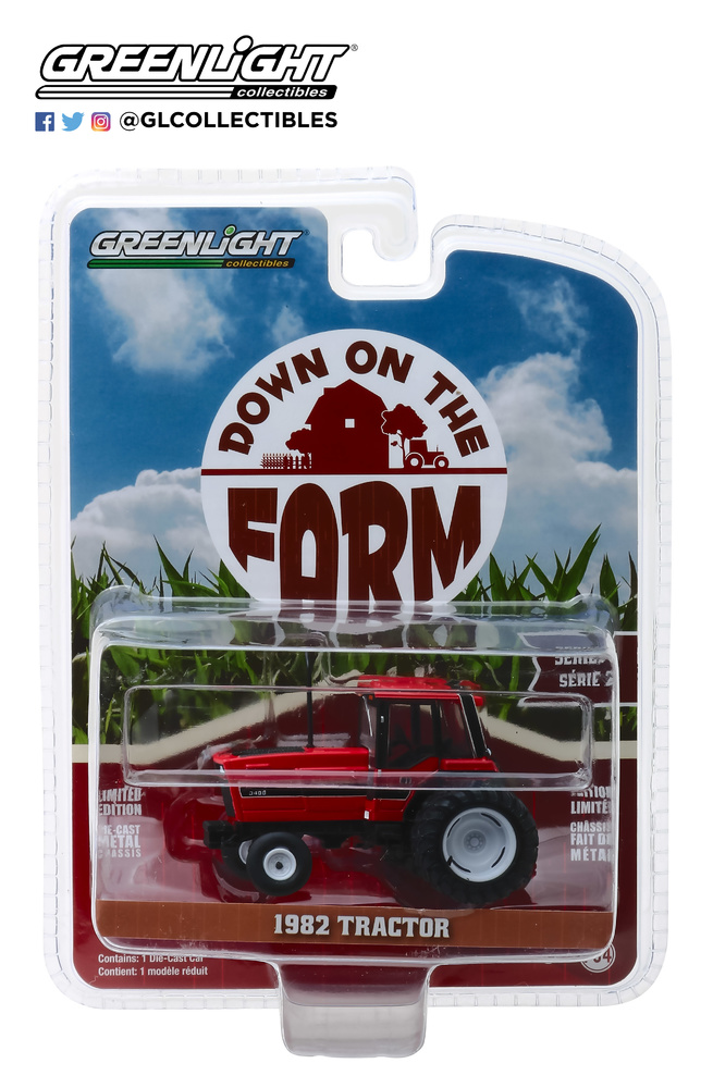 International 3488 tractor con doble rueda y cabina cerrada (1982) Greenlight 48020E 1/64