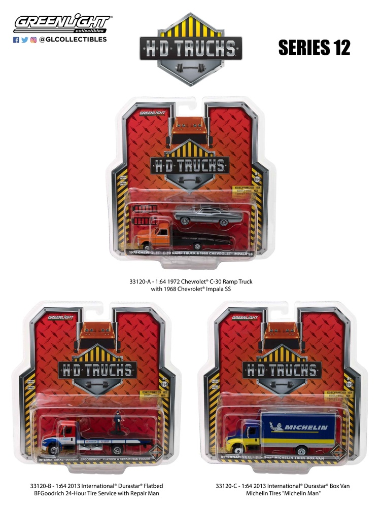 H. D. Trucks serie 12 (2018) Greenlight 33120 1/64